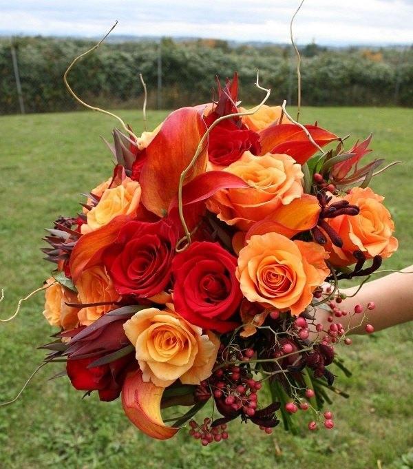 fiori sposa arancione