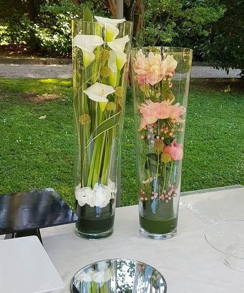 Cilindro con fiori