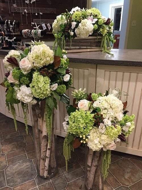 Addobbo florale negozio