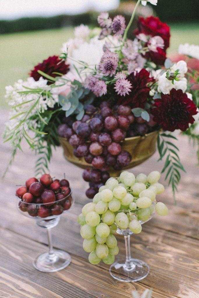 Fiori con frutta