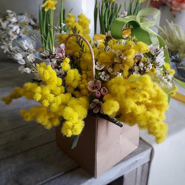 Composizione mimosa festa della donna