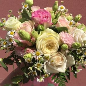 bouquet rose bianche e rosa