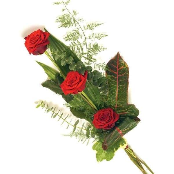 Mazzo di 3 rose